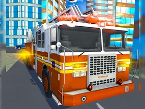 Fire City Truck Rescue Driving