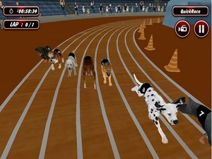 Real Dog Racing Simulator Game