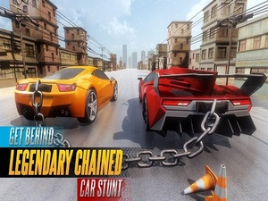 Chained Car Stunts Race Mega Ra