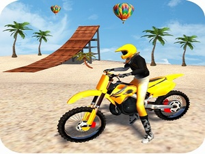Motocross Beach Game: Bike Stun