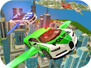 Flying Police Car Simulator