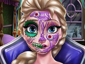 Elsa Scary Halloween Makeup
