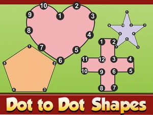 Dot to Dot Shapes Kids Educatio