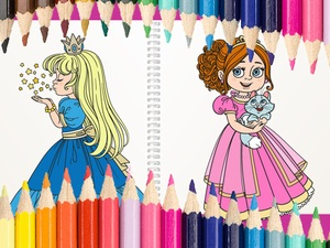 Beautiful Princess Coloring Boo