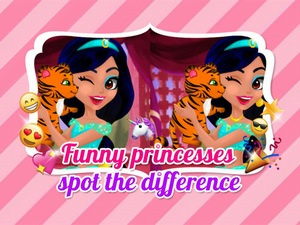 Funny Princesses Spot the Diffe