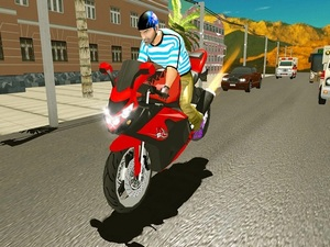 Highway Bike Traffic Moto Racer
