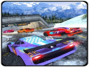 Snow Driving Car Racer Track Si