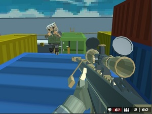 Shooting Blocky Combat Swat Gun